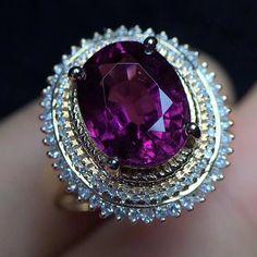 Etsy のk18gold ring the rare Natural Tourmaline ring diamond Engagement Ring K14 K10 K9 SILVER RUBY lapis lazuli  Garnet Emerald  turquoise Opal(ショップ名:mikainc)