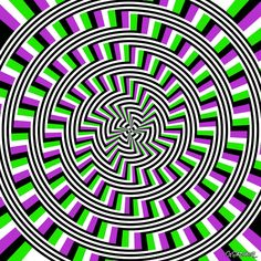 If you look at this image for a certain amount of time, it begins to look as if it is moving, which sounds like a characteristic of an illusion.