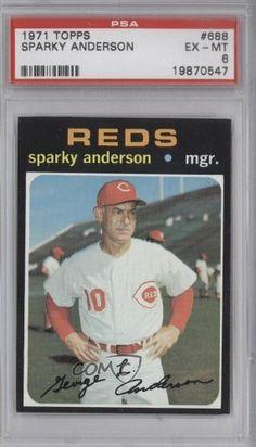 Sparky Anderson MG SP PSA GRADED 6 Cincinnati Reds (Baseball Card) 1971 Topps #688 by Topps. $26.00. 1971 Topps #688 - Sparky Anderson MG SP PSA GRADED 6