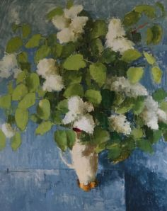 'Lilac' by Jill Barthorpe. Part of the 'Still Life' exhibition at gallerytop, opening Saturday 15 August 2015