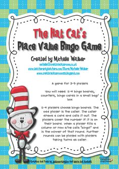 The Hat Cat's Place Value Bingo Game