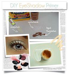 DIY Eyeshadow Primer #diy #eyeshadow #howto #Primer - bellashoot.com