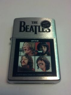 #28254 The Beatles Let It Be Brushed Chrome Sealed Windproof Zippo Lighter