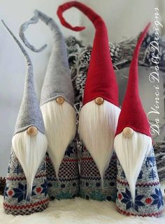 Original Nordic Gnome Sets by DaVinciDoll Designs© DaVinciDollDesigns Christmas Collection Set of Two Woodland Nordic Gnomes! Features bendable hat to position any way you desire! Weighted bottom for extra stability! There may be slight differences in ones pictured as each one