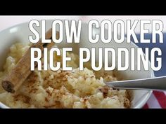 Deliciously Creamy Slow Cooker Rice Pudding