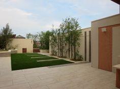 ガーデン施工事例 / タイルテラス 施工例、ベンチ 庭、庭 施工例 奈良、パーゴラ デザイン、ガーデン リフォーム