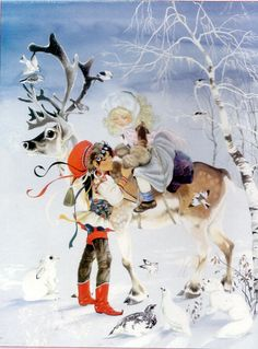 Chic 'Christmas Art 'Santa with Lantern' by Susan Comish Painting Print by Great Big Canvas Wall Art Decor from top store Framed Art Prints, Painting Prints, Poster Prints, Christmas Frames, Christmas Art, Reindeer And Sleigh, Fairytale Art, Lanterns Decor, Snow Queen