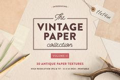 Vintage Paper Textures (11x14in)  by Greta Ivy on @creativemarket