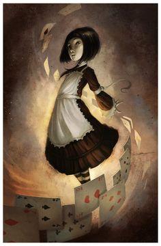 Alice.in.wonderland by Coliandre. #Alice #Wonderland #victorian #Art #gosstudio .★ We recommend Gift Shop: http://www.zazzle.com/vintagestylestudio ★