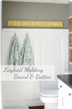 The sign for my bathroom, but a different color. ~ The House of Smiths - Home DIY Blog - Interior Decorating Blog - Decorating on a Budget Blog