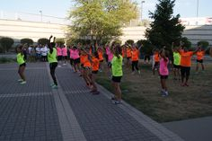 Zumba flash mob during opening ceremony at the 2012 Relay For Life of Des Moines County