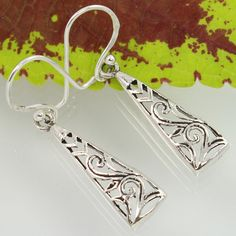 Manufacturer PLAIN 925 Sterling Silver Handcrafted Jewellery Earrings ! Top Gift #Unbranded #DropDangle
