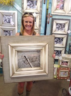 11x14 light gray, distressed, wooden picture frame.  The Frame Cottage of Wye Mountain. The Painted Tree Vintage Market, Bryant, AR. First Monday Trade Days,Canton, TX.Texas Trade Days. Texas Trade Days Ap