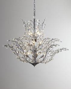 "Branch of Light Design 18-Light 40"" Chrome Chandelier with European or Swarovski Crystals SKU# 10636"