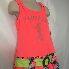 bf2ea04e10e Piper Dress Neon Colorful Knit 6 6X Sleeveless Coral Orange Adorable Words