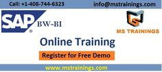 mstrainings.com is offering SAP BW BI Online Training and Placement from Real Time Industry Experts