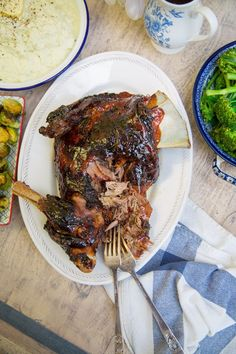 Sticky Slow Cooked Lamb - so tender with the crispiest skin