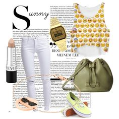 Sunny Tuesday 5 by ferrerchristine on Polyvore featuring polyvore, fashion, style, ONLY, Vans, MARC BY MARC JACOBS, Aamaya by priyanka, Topshop and Revlon