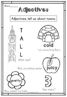Adjectives Activity Workbook by Polly Puddleduck   Teachers Pay Teachers