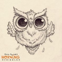 Hoot!!!  #morningscribbles #countdowntohalloween
