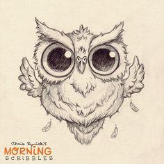 Hoot!!!  #morningscribbles #countdowntohalloween