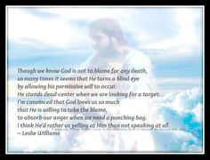 I have done this over and over. My anger blaming God for not helping you my dear son Cliffton. Miss you much my peeps. 3/27/2014