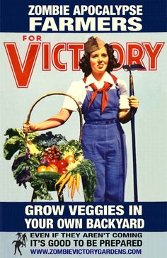 Zombie Victory Gardens... basically a gardening guide, with a zombie apocolypse flavor.