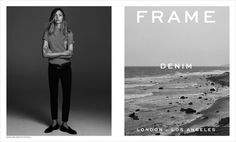 Sasha Pivovarova for Frame Denim Spring Summer 2015