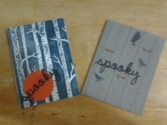 I have received some of the items from the Homemade for the Holidays catalog. I really liked the Woodland Textured embossing folder. So with Halloween just around the corner, I created two cards th...