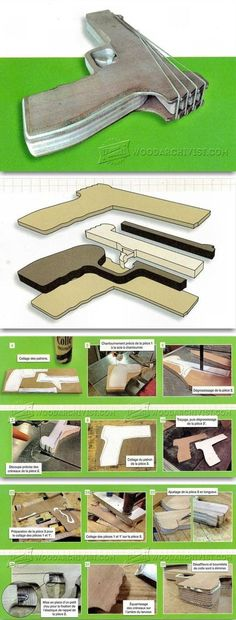 DIY Rubber Band Gun - Wooden Toy Plans and Projects - Woodwork, Woodworking, Woodworking Plans, Woodworking Projects Wooden Projects, Fun Projects, Wood Crafts, Lance Pierre, Rubber Band Gun, Rubber Band Crafts, Bois Diy, Popular Toys, Wood Toys