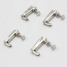 4pcs Violin Fine Tuner Adjuster Copper Nickel Alloy Silver for 3/4 4/4 Size Violin Accessories