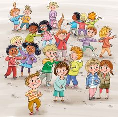 Having Fun in the School Playground pieces) Kid Character, Character Design, Sweet Drawings, School Images, Doodle Patterns, Collaborative Art, Cartoon Pics, Children's Book Illustration, Childrens Books