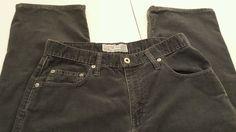 Womens Abercrombie & Fitch Sz 8 straight leg corduroy grey blue jeans #AbercrombieFitch #StraightLeg