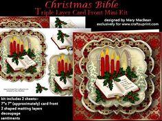 Christmas Bible Triple Layer Card Front Mini Kit