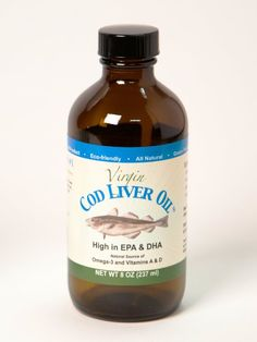 Virgin Cod Liver Oil, 8 Oz Jar (Mild Lemon & Peppermint Flavor) by NutraPro International Natural Oils, Natural Health, Cod Liver Oil, Butter Oil, Healthy Eyes, Lemon Essential Oils, Foods With Gluten, Peppermint, Vitamins