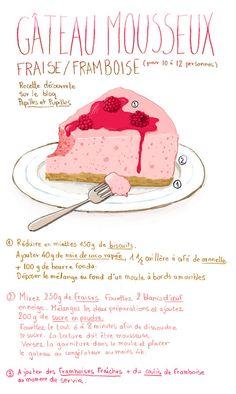 © Stéphanie Rubini - Gâteau mousseux fraise/framboise