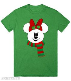 Snowman Minnie Mouse T-shirt. Want to add a name? Just email me at Angela@myhearthasears.com for your custom design! Available in Men's, Women's, Children's and Infant sizes.