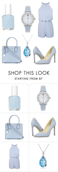 """Blue my mind"" by karinaparpaut24 ❤ liked on Polyvore featuring Essie, Vivienne Westwood, MICHAEL Michael Kors, Nine West, Miss Selfridge and BlueFashion"