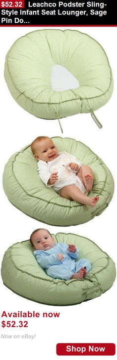 Baby Safety Sleep Positioners: Leachco Podster Sling-Style Infant Seat Lounger, Sage Pin Dot BUY IT NOW ONLY: $52.32