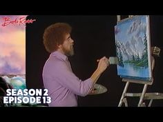 Even a tiny shanty by the pond can be a warm place in the dead of winter – Bob Ross shows us how to make a snow scene glow! Season 11 of The Joy of Painting . Bob Ross Show, Bob Ross Art, Acrylic Painting Techniques, Painting Lessons, Peintures Bob Ross, Rob Ross, Bob Ross Youtube, The Joy Of Painting, Painting Art
