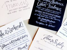 Hand Lettered NYC Wedding Invitations Grey Snail Press3 Sam + Adams Hand Lettered NYC Wedding Invitations