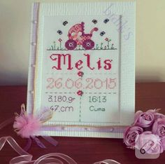 Cross Stitch, Holiday Decor, Frame, Babies, Baby Embroidery, Punto De Cruz, Embroidery, Picture Frame, Babys