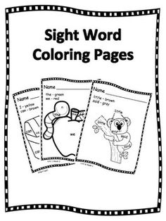 Sight Words-Kindergarten Treasures/Wonders Reading Series