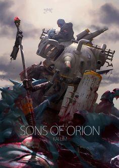 Sons of Orion - by ukitakumuki (Kai Lim) 3d Artwork, Design Graphique, To Infinity And Beyond, Science Art, Sci Fi Art, Digital Illustration, Game Art, Illustrators, Fantasy Art