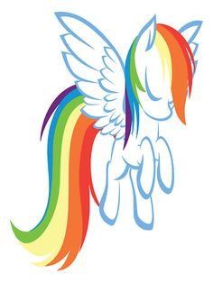 """My Little Pony Friendship is Magic Rainbow Dash Memory"" Stickers by cyberwolf247   Redbubble"