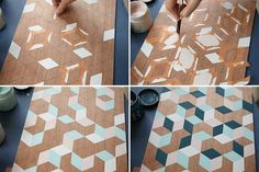 Plateau géométrique - DIY                                                                                                                                                                                 Plus