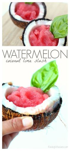 Watermelon Coconut Lime Slush + How to Not Open a Coconut