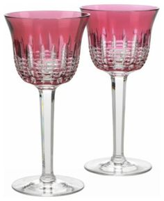 Waterford Simply Pink Wine Goblet, Pair - traditional - glassware - WWRD US