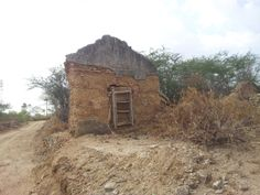 Ruins of a Christian colony that was illegally taken by local authorities at Kodandur village, Karur District.