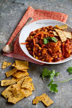 DRUNKEN-PUMPKIN CHILI-This is a great recipe to make ahead or to feed a crowd. The recipe is also very forgiving, you can adjust the seasonings as you like, leave out the pumpkin, use different beans, cook it too long, too less..it will still taste good! Meat lovers will like this dish too.